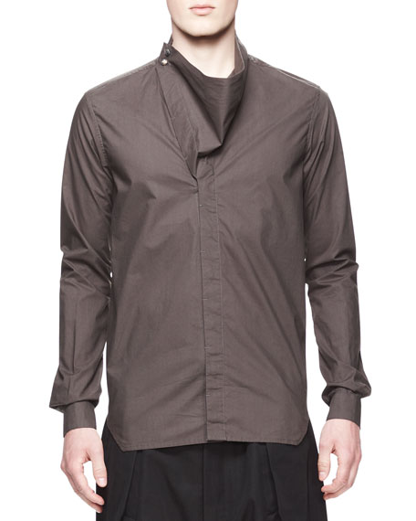 Long-Sleeve Mega Cowl Shirt