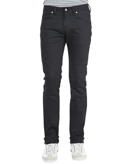 Naked and Famous Denim SkinnyGuy Power-Stretch Jeans, Black