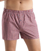 Hanro Fancy Woven Check Boxer Shorts, Red