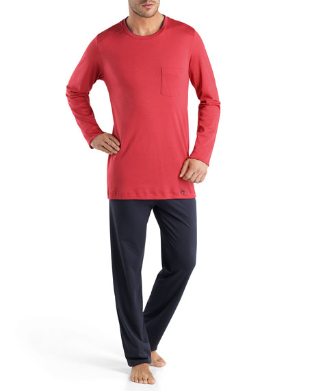 Antonio Long Pajama Set, Red
