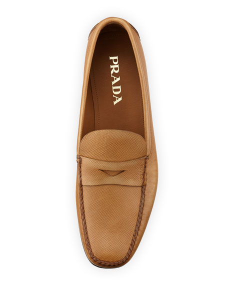 Saffiano Penny Loafer, Tan