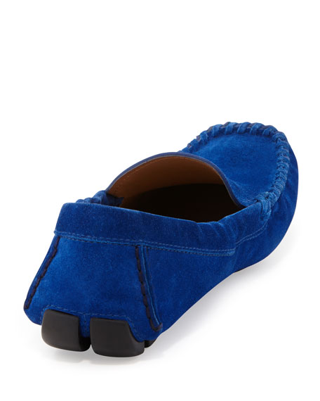 Suede Moccasin Driver, Blue