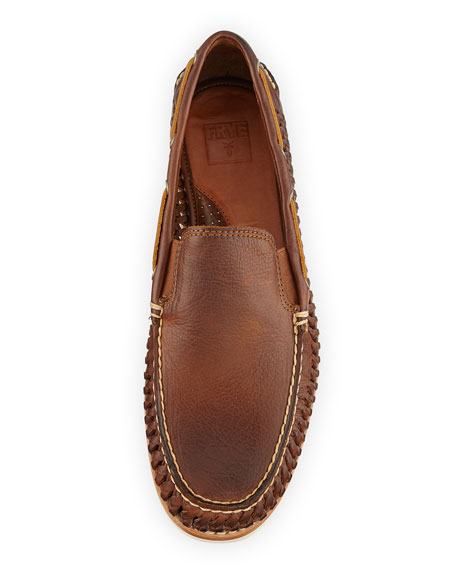 Sully Woven Venetian Loafer, Cognac