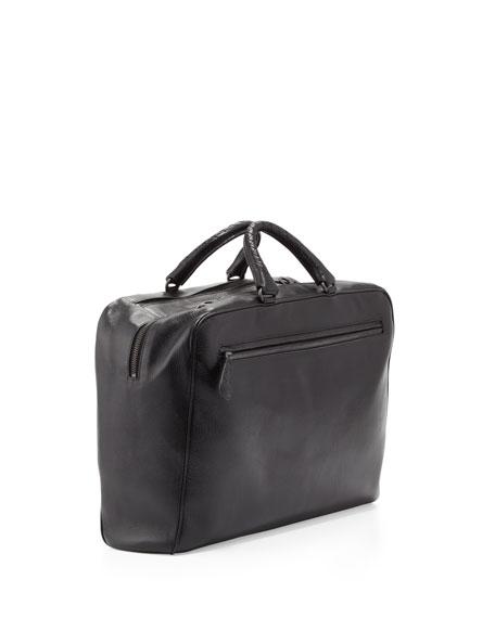 Brera Multi-Zip Leather Briefcase