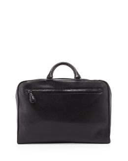 Bottega Veneta Brera Multi-Zip Leather Briefcase