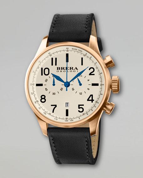 Classico Chronograph Watch, Black/Gold