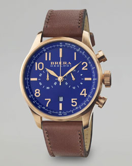 Brera Classico Chronograph Watch, Rose Gold