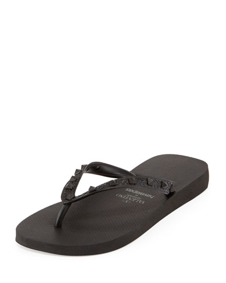 valentino by havaianas rockstud flip flop black. Black Bedroom Furniture Sets. Home Design Ideas
