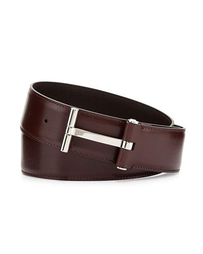 T Buckle Belt, Oxblood