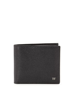 Tom Ford TF Leather Bi-Fold Wallet, Black