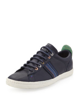 Paul Smith Osmo Leather Low-Top Sneaker, Navy