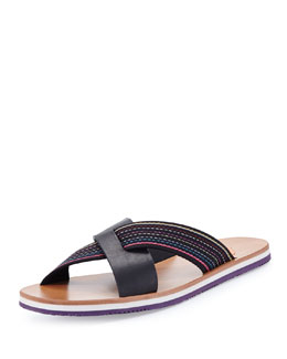 Paul Smith Kohoutek Striped-Strap Sandal
