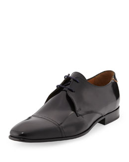 Paul Smith Robin High-Shine Lace-Up Derby Shoe