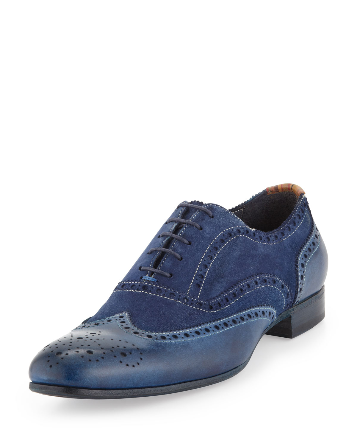 Paul Smith Miller Dip-Dyed Leather Wing-Tip, Navy