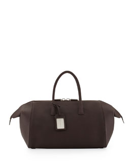 Giorgio Armani Men's Leather Runway Duffel Bag, Dark Brown