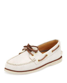 Sperry Top-Sider Gold Cup Authentic Original Boat Shoe, Ivory