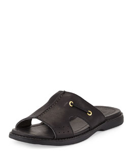 Sperry Top-Sider Gold Cup Leather Slide Sandal, Black