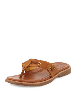 Sperry Top-Sider Gold Cup Thong Sandal, Tan