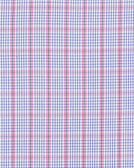Ben Plaid Dress Shirt, Berry