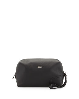 Boss Hugo Boss Leather Travel Kit, Black