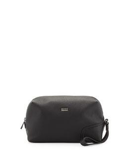 Boss Hugo Boss Leather Travel Kit, Black