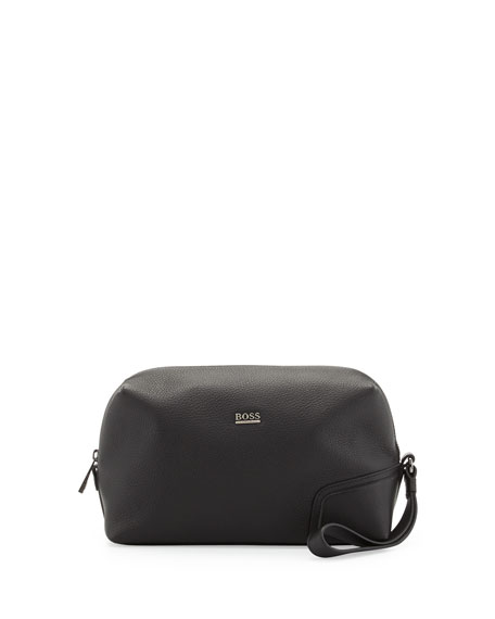 Leather Travel Kit, Black