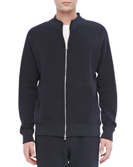 Theory Veton Z Zip Hoodie in Indicative, Eclipse