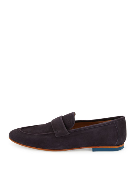 Sahamio Suede Penny Loafer, Navy
