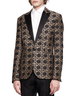 Dsquared2 Tribal Print Jacket, Black/Beige