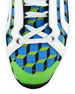 Men's Cube-Print Training Sneakers, Blue/Green