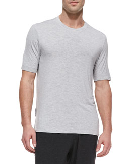 Ugg Stretch-Jersey Crewneck Tee, Gray