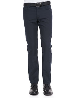 Theory Haydin JE N Z Pants in Hanford Linen-Blend, Eclipse
