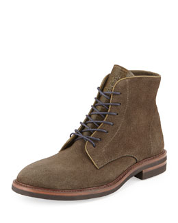 Brunello Cucinelli Kudu Lace-Up Short Boot