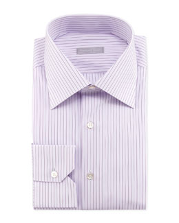 Stefano Ricci Wide-Pinstripe Dress Shirt, Purple