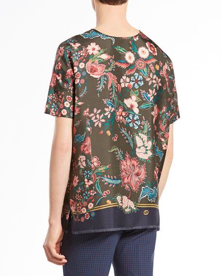 Ornamental Floral-Print Tee