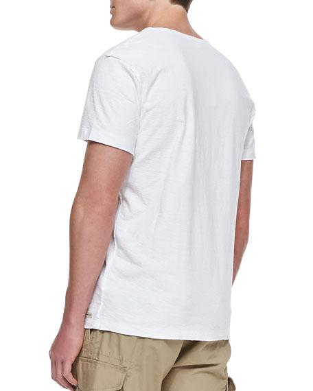 Reversed Slub T-Shirt, White