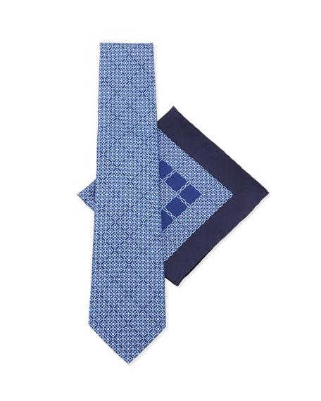 Stefano Ricci Silk Tie & Pocket Square Set,