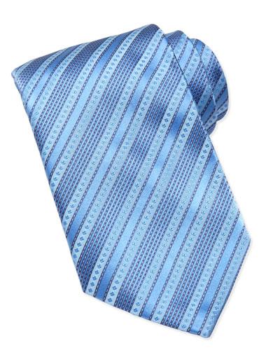 Stefano Ricci Multi-Stripe Silk Tie, Lavender