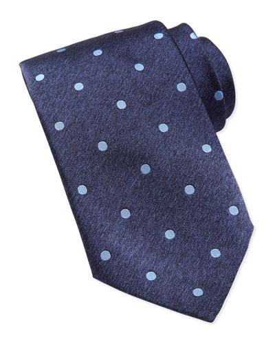 Stefano Ricci Polka-Dot Silk Tie, Blue