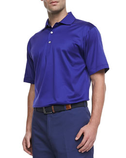 Peter Millar Lisle-Knit Polo, Purple