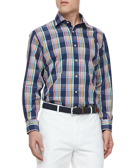Ibiza Plaid Long-Sleeve Shirt