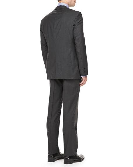 82cf05277 Hugo Boss James/Sharp Striped Suit, Black/Gray