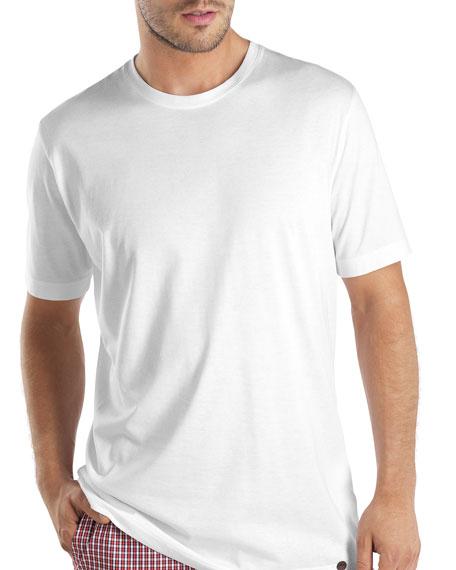 Hanro Night & Day Short-Sleeve Shirt, White