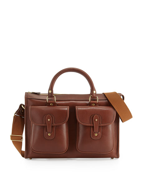 Examiner Vintage Leather Briefcase, Chestnut