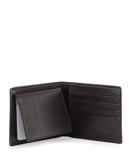 Wallet with Transit Pass Case, Black