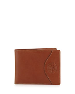 Ghurka Wallet with Transit Pass Case, Chestnut