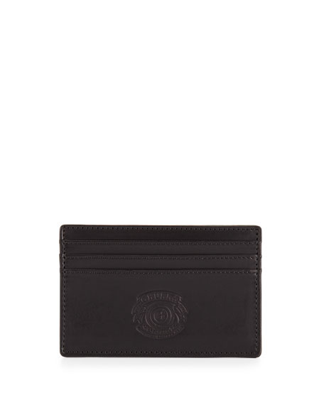 Slim Leather Card Case, Black
