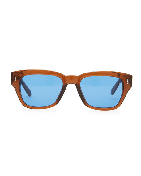 Acetate Square Sunglasses, Brown