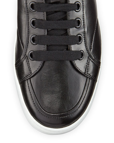 Avenue Men's Leather High-Top Sneaker, Black