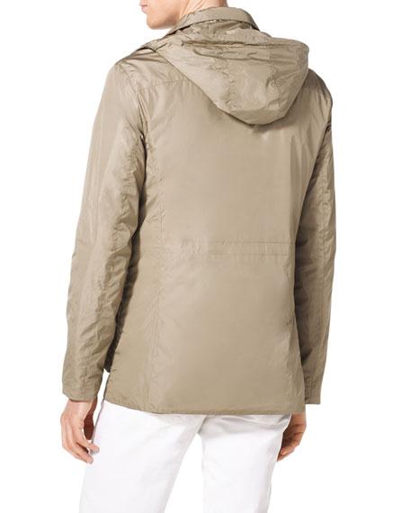 Multi-Pocket Hooded Jacket